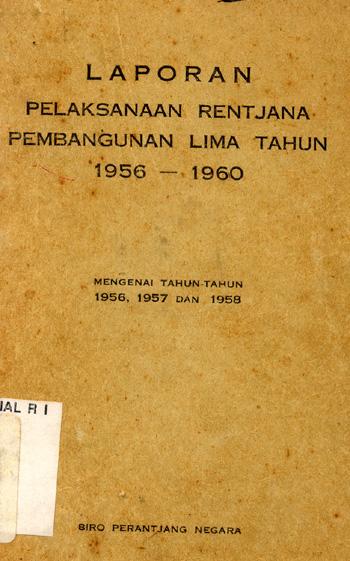 Lokasi Laporan Pelaksanaan Rentjana Pembangunan Lima Tahun 1956 1960